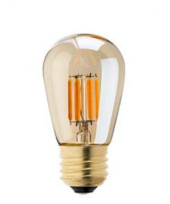 Vintage led lamp dimbaar 4W ST45 Edison gold