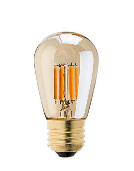 vintage led lamp dimbaar 4w st45 edison gold - db led