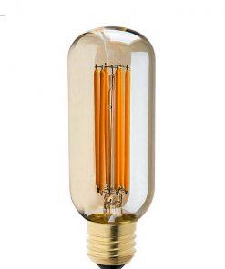 Vintage led lamp dimbaar 6W T45L Edison gold