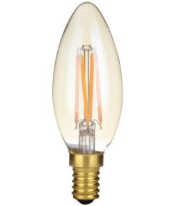 LED-Kaars-C35-4W-Gold-2200K-Dimbaar 4-Pack