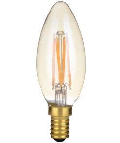 LED-Kaars-C35-4W-Gold-2200K-Dimbaar 4-Pack