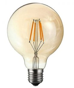 Vintage bol lamp dimbaar 9,5CM 4W