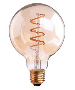 Vintage LED lamp G95 4W Gold 2200K Twisted