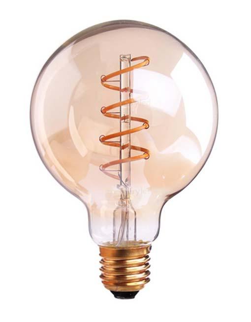 4w Lamp Led Gold Vintage G95 2200k Dimbaar Twisted SUqzMpV