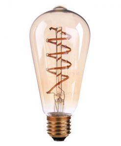 Vintage LED lamp ST64 4W Gold 2200K Twisted
