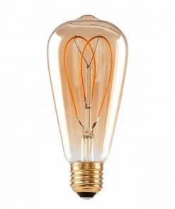 Unieke Vintage LED Lamp ST64H 4W Dimbaar