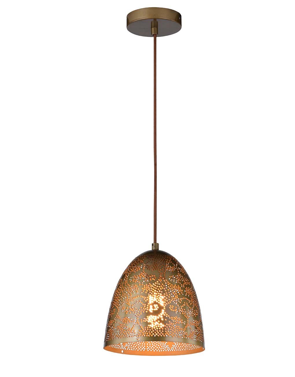 Hanglamp oosters sfinks vintage messing db led for Hangelampe vintage