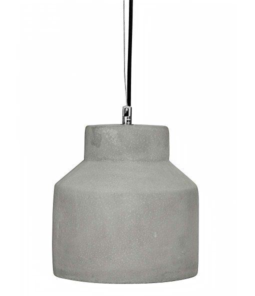 Hanglamp Beton No.1 zwart strijkijzersnoer
