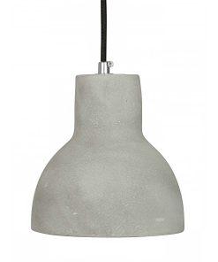 Hanglamp Beton No.3 zwart strijkijzersnoer