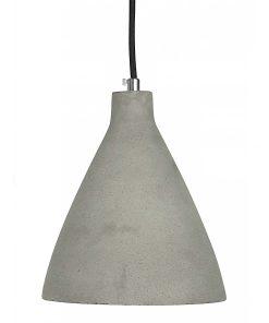 Hanglamp Beton No.5 zwart strijkijzersnoer