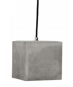 Hanglamp Beton No.4 zwart strijkijzersnoer