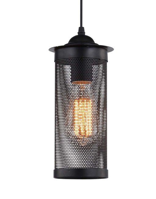 Hanglamp Gaas Briks Industrieel zwart Cilinder