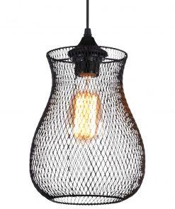 Hanglamp Gaas Briks Industrieel zwart Vaas