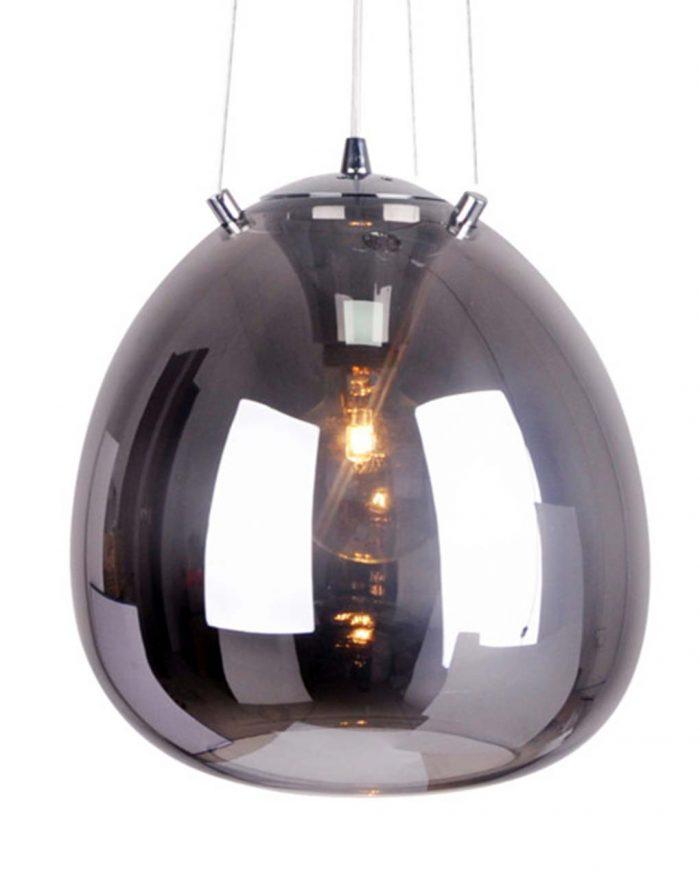 Hanglamp grijs gerookt glas Moon