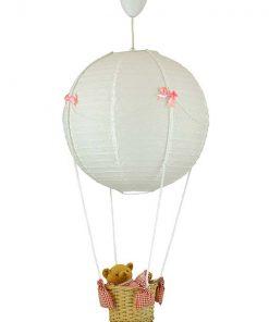 Beer ballonlamplamp roze